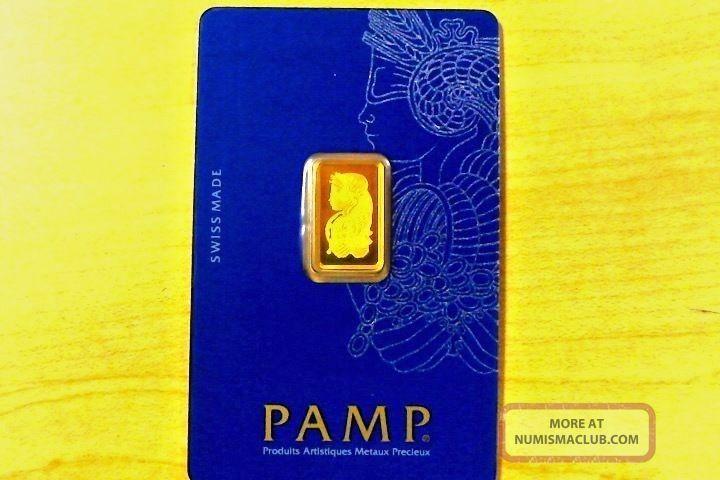 Pamp Suisse 2.  5 Gram 999.  9 Gold Bar / Case Bag 730 Gold photo