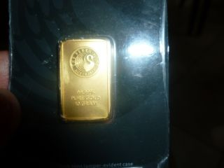 Gold Bar 10 Grams Perth 99.  99 Solid Gold photo