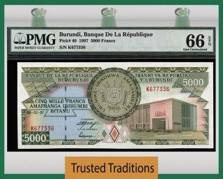 Tt Pk 40 1997 Burundi 5000 Francs