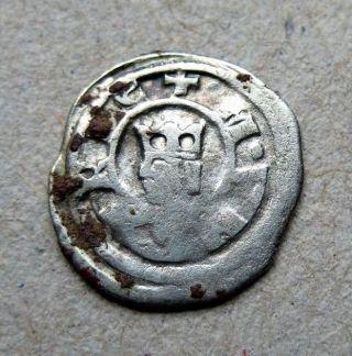 Rare Hungarian Medieval Silver Obol - Stephen V 1270 - 1272 Huszar 358 photo