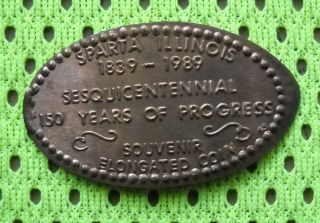 Sparta Illinois Elongated Penny Il Usa Cent 1839 1989 Souvenir Coin photo