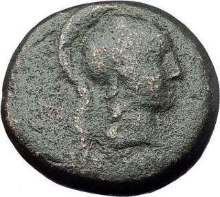 Pergamon In Mysia 200bc Athena Nike Authentic Ancient Greek Coin I61260 photo