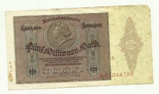 Germany 5.  000.  000 Mark 1923 A 02044799 Circulated Banknote photo