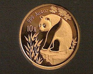 1993 1/10 Oz 10 Yuan Gold Panda photo