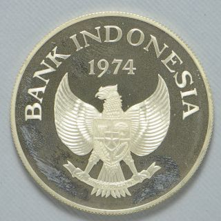 1974 Proof Bank Of Indonesia 2000 Rupee Silver (cn3299) photo
