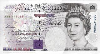 1991 Bank Of England - Great Britain 20 Pounds In Au Pick: 384 photo