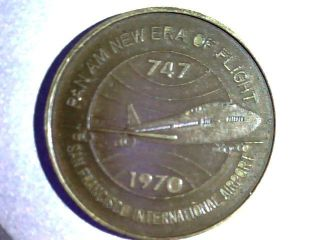 Pan Am 1970 San Bruno,  California,  747 Inaugeral Flight,  Bronze photo
