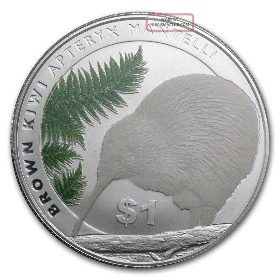 Zealand 2015 North Island Brown Kiwi,  1 Oz Silver Coin Rare Silver photo