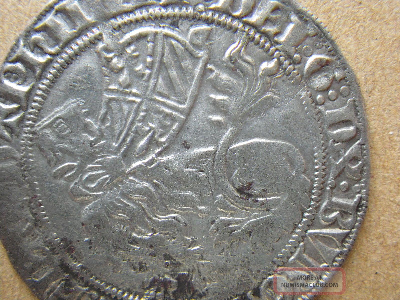 Gorgeous Silver Double Gros à La Mante Flanders Philippe Le Hardi 1388 Ad Europe photo