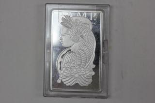 10 Oz Ounce Pamp Suisse.  999 Fine Silver Bar - Fortuna,  Cornucopia - In Assay photo
