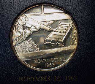 1971 Legacy Of John F Kennedy 1 Oz 999 Silver Round Franklin 11/22/1963 photo