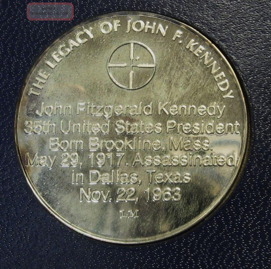 1971 Legacy Of John F Kennedy 1 Oz 999 Silver Round