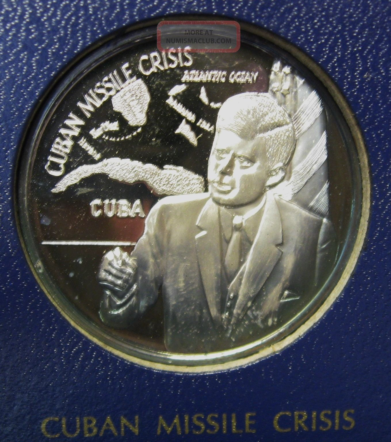 1971 Legacy Of John F Kennedy 1 Oz 999 Silver Round Franklin Missile Crisis Silver photo