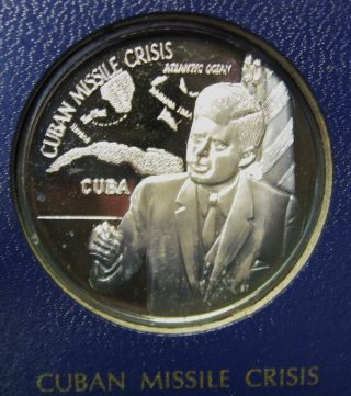 1971 Legacy Of John F Kennedy 1 Oz 999 Silver Round Franklin Missile Crisis photo