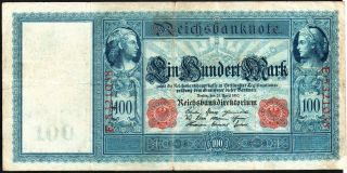 German 100 Mark 1910 Series: E5321038 -