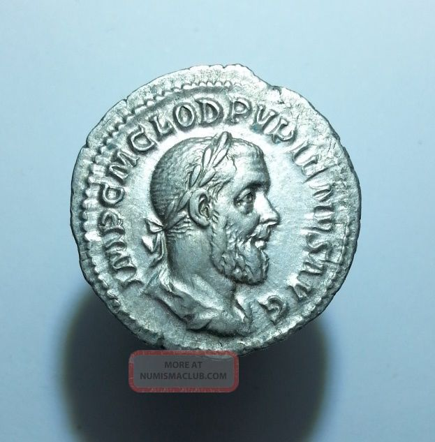 Denarius Rome Pupienus (100) Coins: Ancient photo