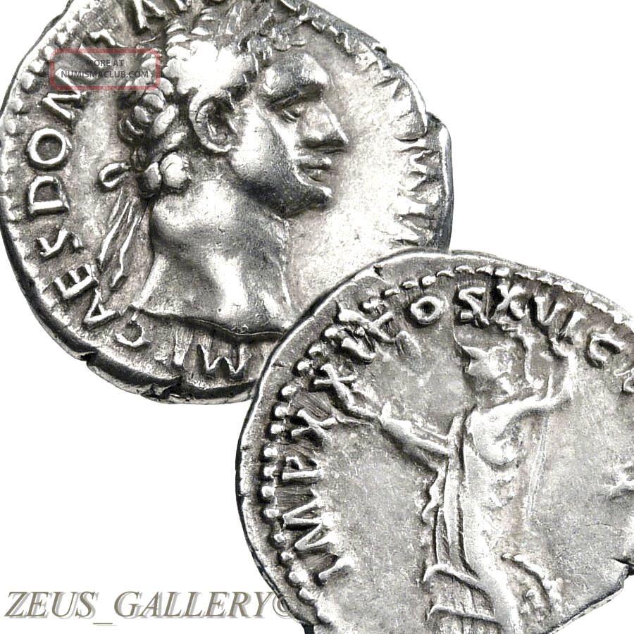Domitian / Minerva T - Bolt,  Shield Vf,  Ancient Roman Empire Silver Denarius Coin Coins: Ancient photo