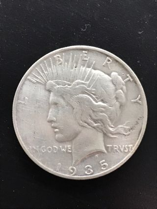 1935 - S $1 Peace Dollar, photo
