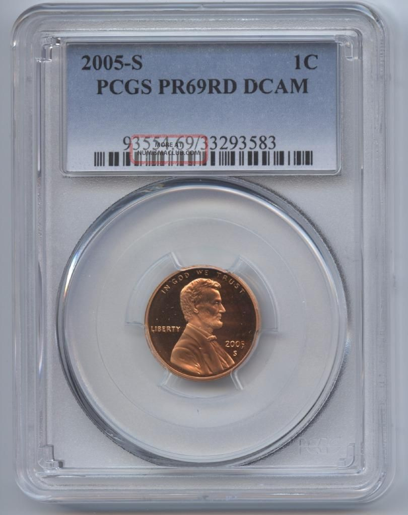2005 - S Lincoln Cent Pr69rd Dcam Pcgs Proof 69 Red Deep Cameo Small Cents photo