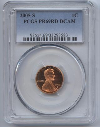2005 - S Lincoln Cent Pr69rd Dcam Pcgs Proof 69 Red Deep Cameo photo