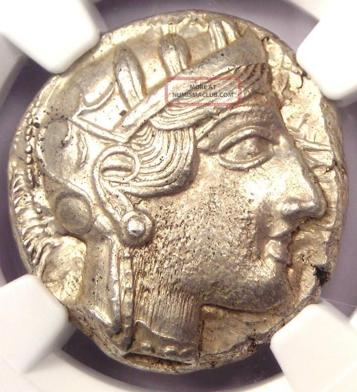 Ancient Athens Greece Athena Owl Tetradrachm Coin (440 - 404 Bc) - Ngc Choice Au Coins: Ancient photo