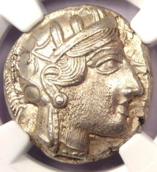 Ancient Athens Greece Athena Owl Tetradrachm Coin (440 - 404 Bc) - Ngc Choice Au photo