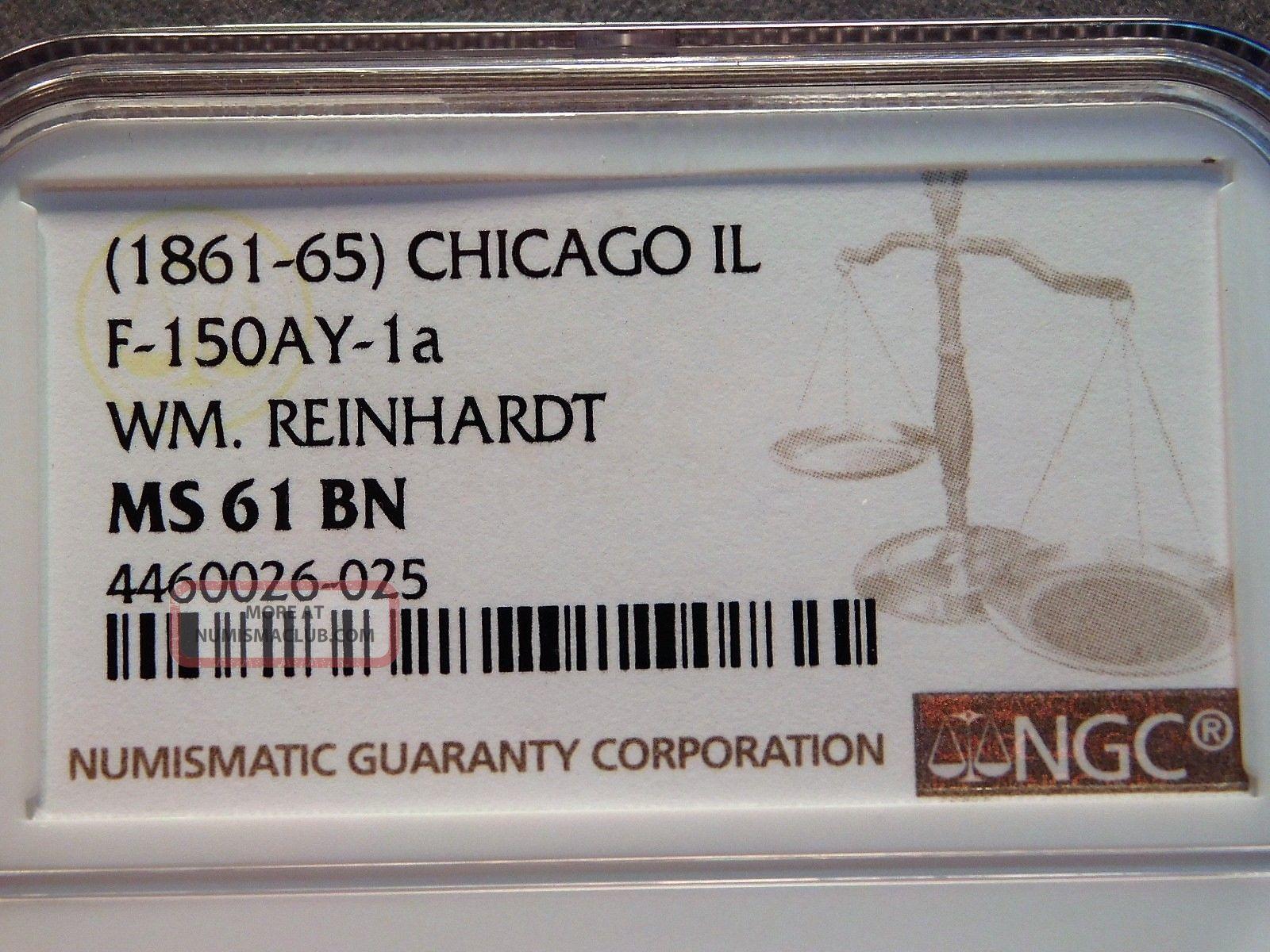 Civil War Token Chicago,  Illinois Exonumia photo