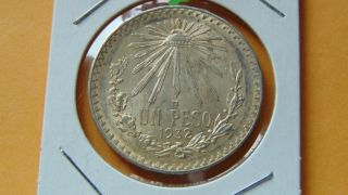 Mexico Peso,  1932 Cap And Ray Silver Coin photo