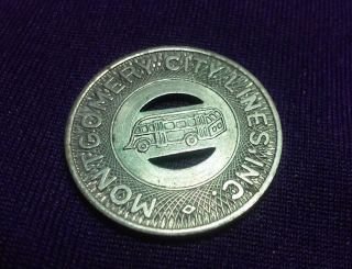 Vintage Montgomery City Lines Inc Good For One Fare Transit Token photo