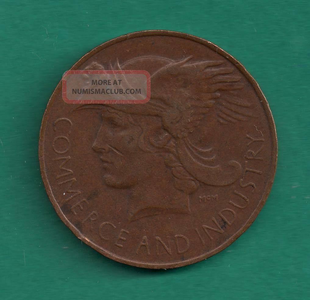 British Empire Exhibition 1924 Commerce & Industry Bronze Geatr Britain Medal Exonumia photo