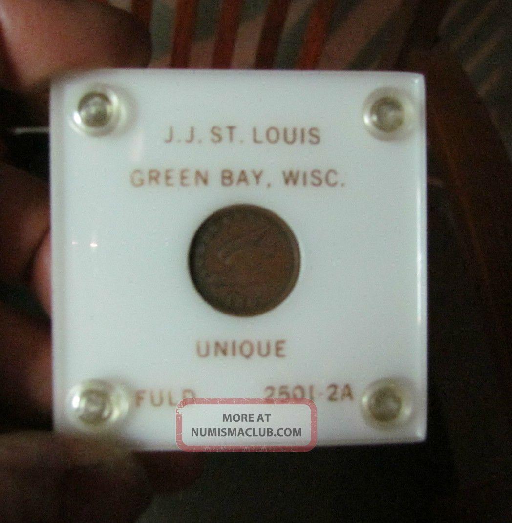 1863 Civil War Token,  J.  J.  St Louis Hardware Dealer,  Greenbay,  Wi Exonumia photo