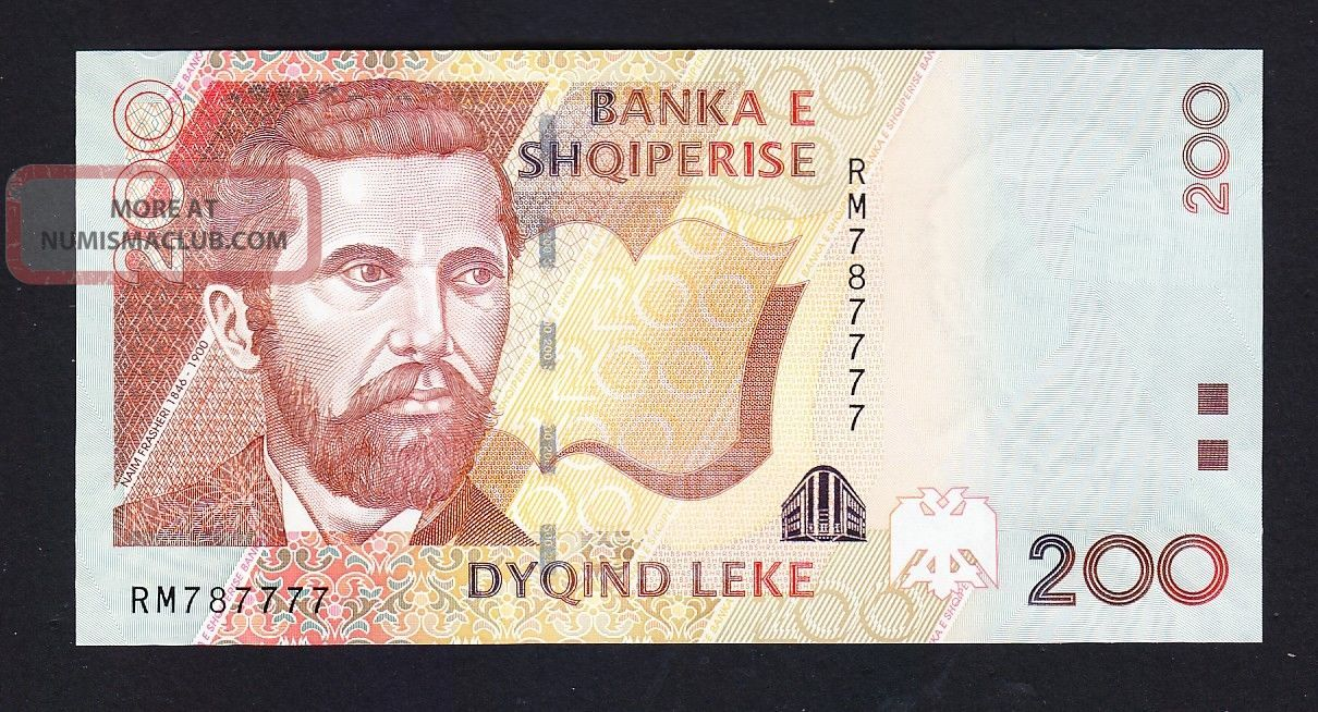 2012.  Albania Paper Money.  200 Leke.  Unc.  See Number. Europe photo