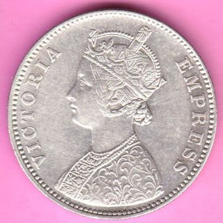 British India - 1882 - Dot Variety - One Rupee - Victoria Queen - Silver Coin - 12 photo