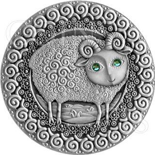 Belarus 2009 20 Rubles Zodiac Aries Unc Silver Coin photo