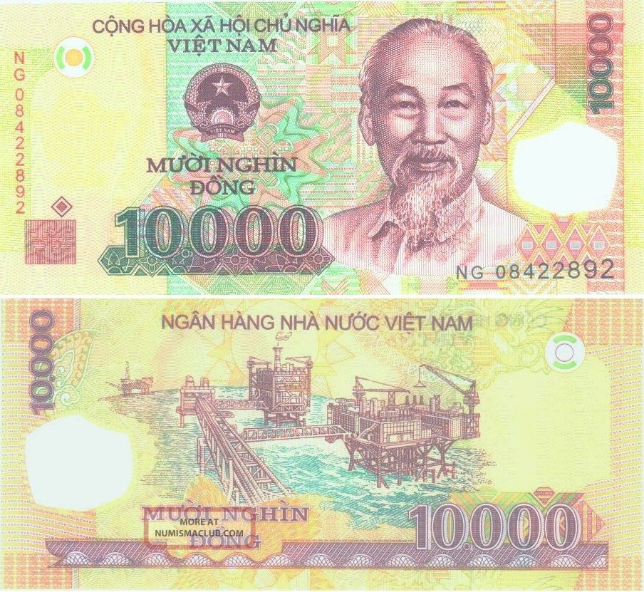 Vietnam 1 X 10000 Dong Polymer Banknote - Uncirculated S&h. Vietnam photo