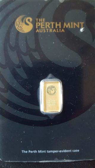 1 Gram Gold Bar - Perth - 99.  99 Fine In Assay photo