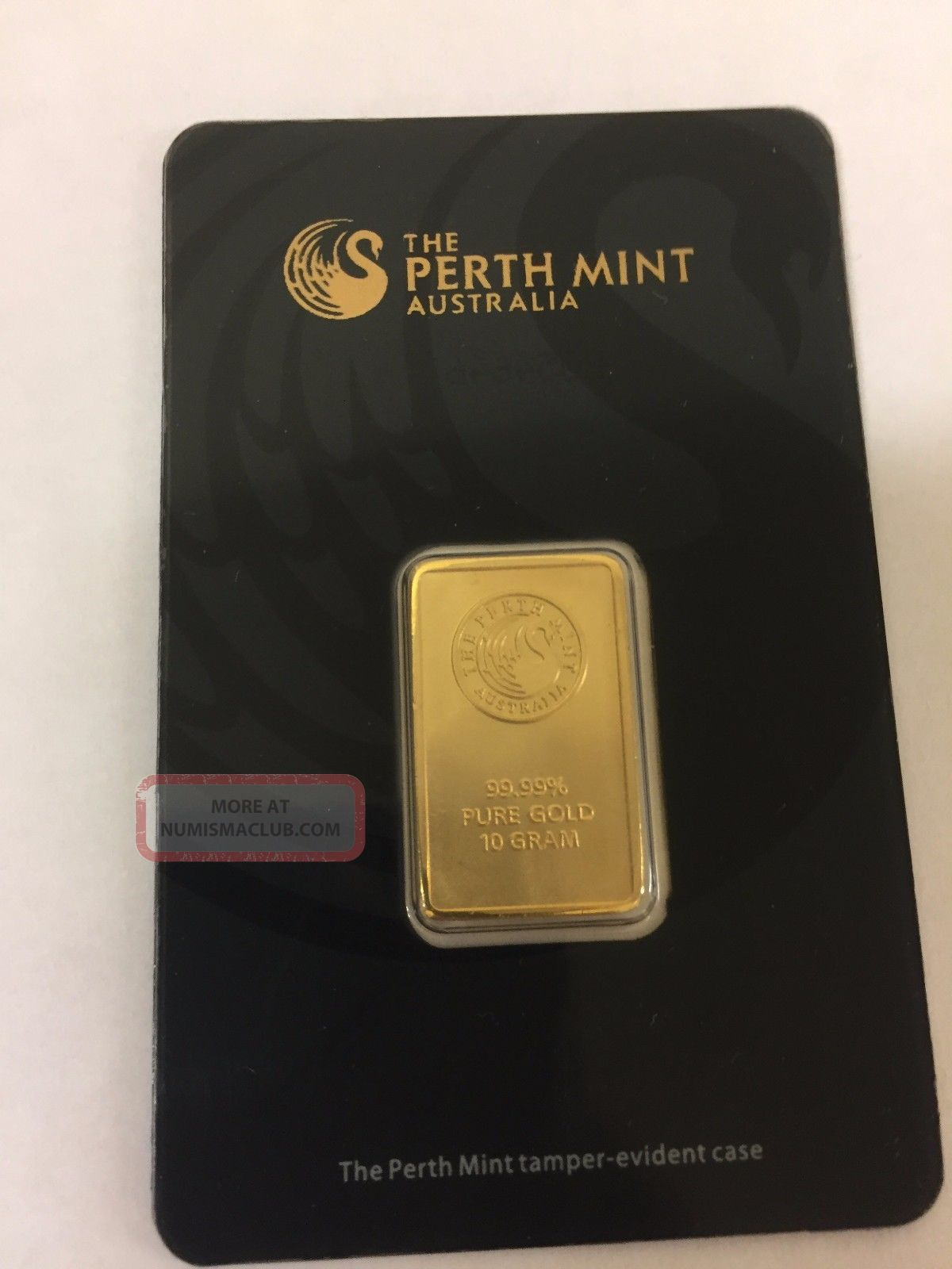Perth 10 Gram.  9999 Gold Bar With Assay Certificate Gold photo