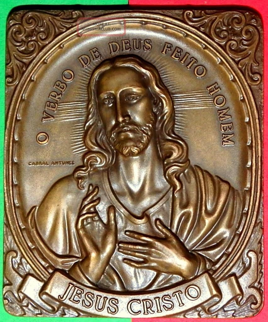Religious /jesus Christ/ The Messiah / Realistic Bronze Medal By Antunes Exonumia photo