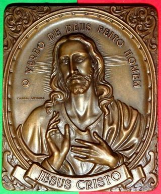Religious /jesus Christ/ The Messiah / Realistic Bronze Medal By Antunes photo
