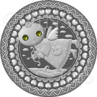 Belarus 2009 20 Rubles Zodiac Sagittarius Unc Silver Coin photo