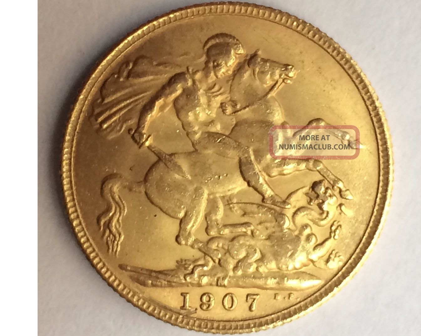 1907 King Edward Vii Gold Sovereign [km 805] Coins: World photo