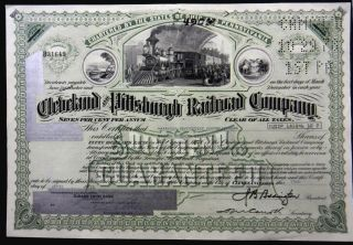 Stock Certificate 1978 Cleveland Pittsburgh Rr Co 490 Shares Capital Pennsyvania photo
