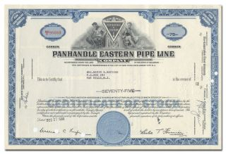 Panhandle Eastern Pipe Line Company Stock Certificate photo