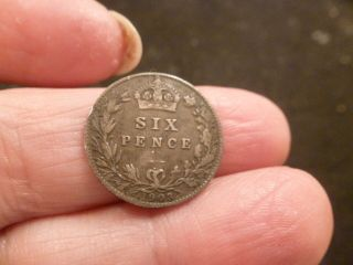 Great Britain 6 Pence,  1903 photo