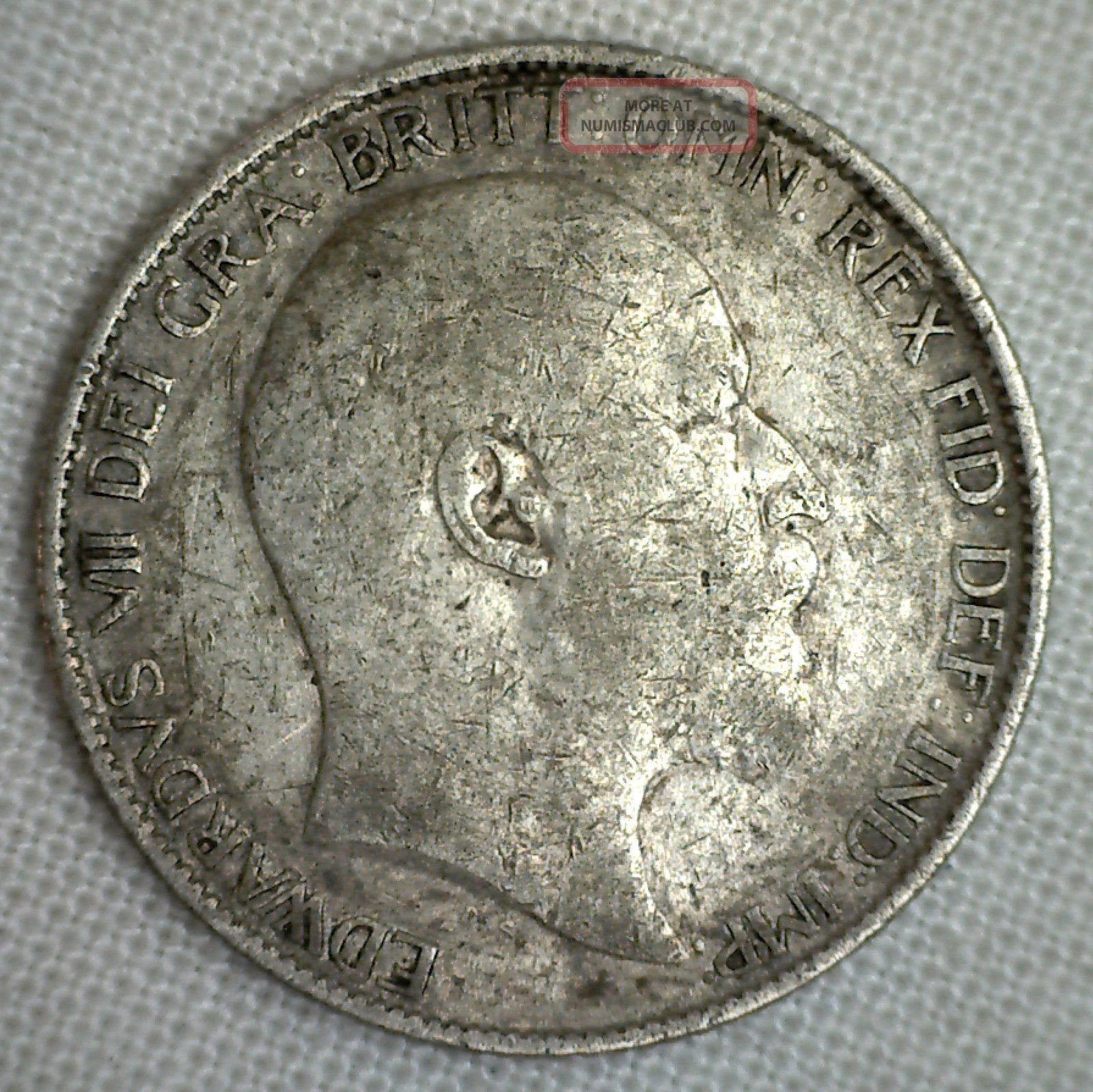 1908 Great Britain 6 Pence Km 799 Yg World Coin Silver English P UK (Great Britain) photo