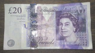 $20 British Pounds Paper Currency Bill 2006 photo