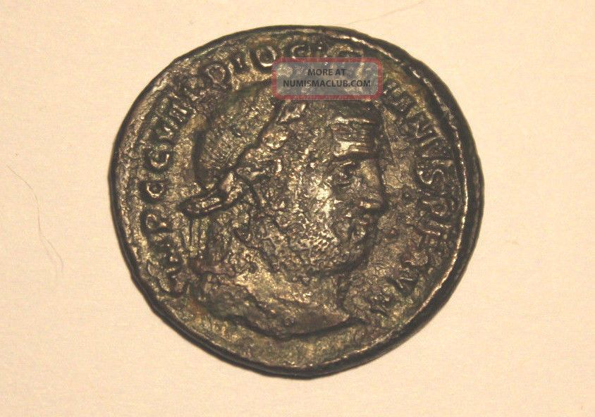 Copper Ancient Roman Follis,  Diocletian,  284 - 305 Ad,  F,  Uncleaned Coins: Ancient photo