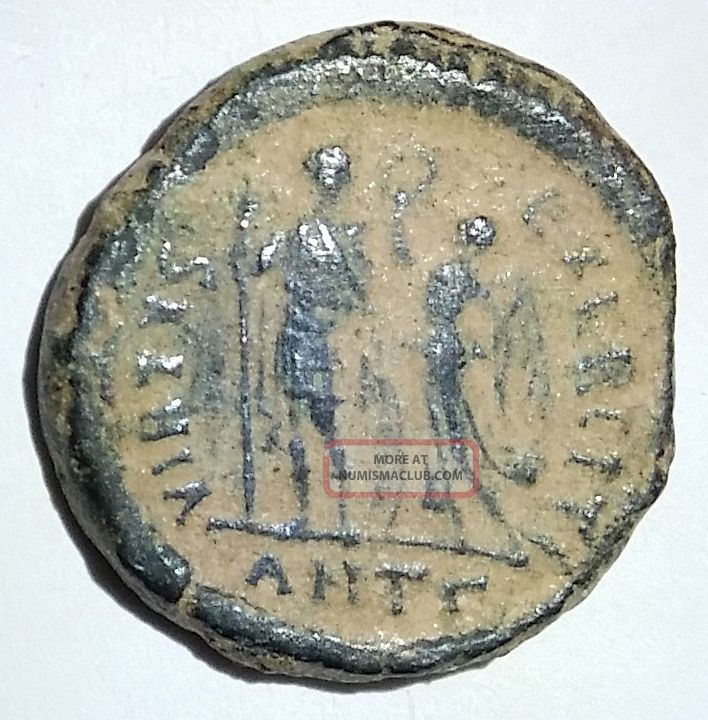 Ancient Roman Empire Bronze Coin Honorius 394ad - 423ad Crowned By Victory Coins & Paper Money photo