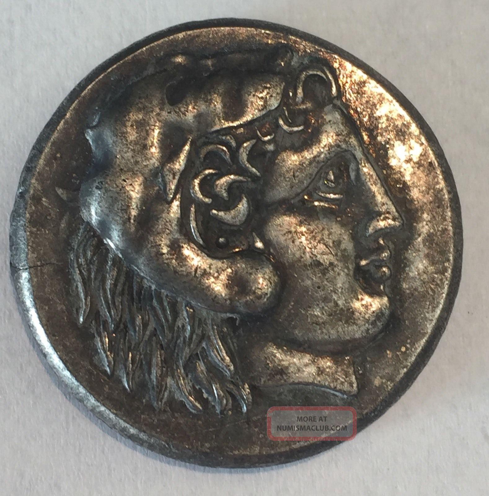 Ancient Greece Tetradrachma 250 Bc Coin Herakles Crab In ...
