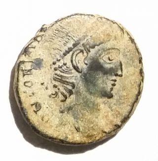 Ancient Roman Empire Bronze Coin Constantius Ii 337ad - 361ad Wreath photo